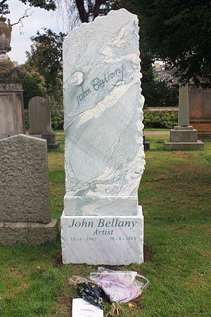 John Bellany - Bellany's grave, Dean Cemetery, Edinburgh