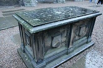 Sir John Sinclair, 1st Baronet - The grave of Sir John Sinclair, Holyrood Abbey