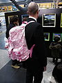 The pink Kitty backpack guy. (6779295159).jpg