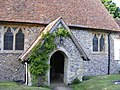 The porch at St Mary the Virgin Church, Friston - geograph.org.uk - 1414350.jpg