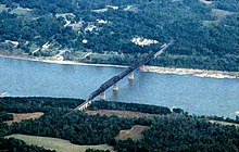 Thebes Illinois rail bridge 1997.jpg