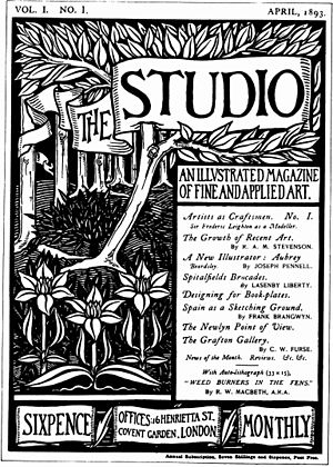 The Studio (magazine) - Cover by Aubrey Beardsley for the first issue of The Studio