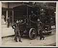 Three delivery men with Rainier beer truck, ca 1905 (MOHAI 6874).jpg