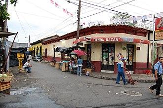 Quezaltepeque, La Libertad - Street corner in Quezaltepeque