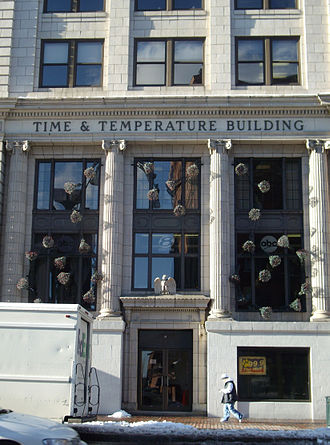 Time and Temperature Building - Entrance to the Time and Temperature Building.