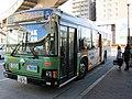 Toei Bus R575 at Kabe Station.jpg