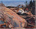 Tom Thomson, Lumber Dam, 1915.jpg