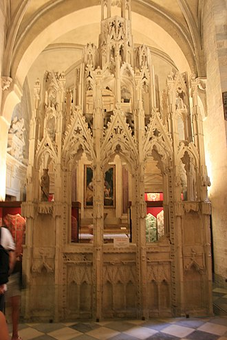 Pope John XXII - Tomb of John XXII in the Treasury room of the Cathédrale Notre-Dame des Doms d'Avignon
