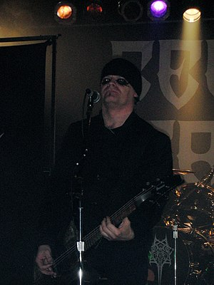 Celtic Frost - Tom Warrior performing in 2006.