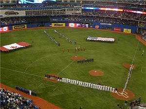 Pre-game ceremonies for the 2010 Toronto Blue Jays Home Opener.