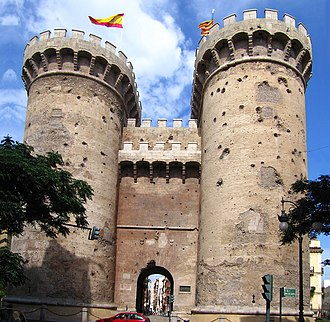 Siege of Valencia (1812) - One of Valencia's twelve old city gates