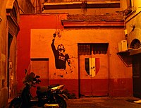 A mural of Francesco Totti painted after Roma'...