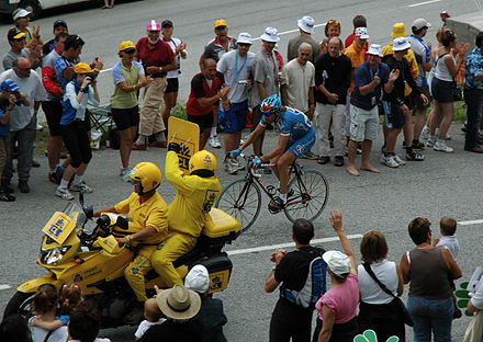 Laurent Brochard à l'attaque dans le Tour de France 2005.