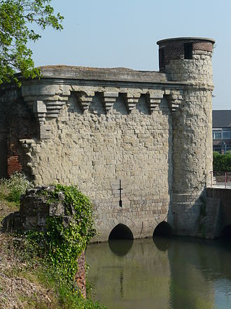 Cambrai - The Tower of Arquets (14th century) controlled the entry of the Scheldt in the city and the flood defences