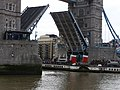 Tower Bridge raised for Waverley - geograph.org.uk - 1775235.jpg