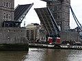 Tower Bridge raised for Waverley - geograph.org.uk - 1775235.jpg