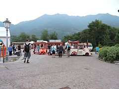 Toy train in Esino Lario town during Wikimania 2016, Italy.jpg
