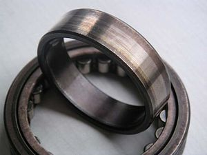 Burnishing (metal) - The inner race of this roller bearing has been burnished by the bearing's rollers.