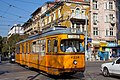Tram in Sofia at Central market hall and Mineral bath 2012 PD 001.jpg