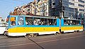 Tram in Sofia near Sofia statue 2012 PD 045.jpg