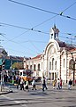 Trams in Sofia in front of Central Market Hall 2012 PD 025.jpg