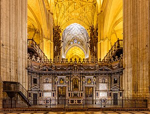 Retroquire - The retroquire of the Cathedral of Seville, Spain.