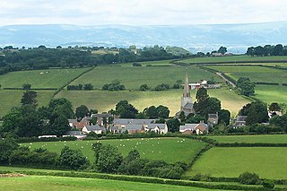 Trellech village in Trellech United, Monmouthshire, Wales