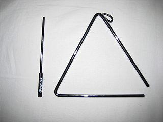 Triangle (musical instrument) Idiophone type of musical instrument in the percussion family