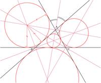Bissetrizes de um tri�ngulo e c�rculos exinscritos e inscritos