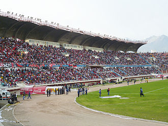 Estadio Monumental Virgen de Chapi - Image: Tribuna Occidente Estadio Virgen de Chapi