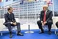 Trump and Macron at 2018 NATO Summit.jpg