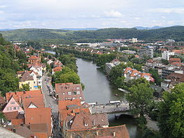 view from the stiftskirche tbingen town hall