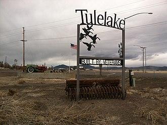 Tulelake, California - Welcome sign, south Tulelake