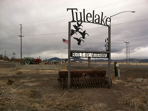 Tulelake welcome sign