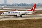 Turkish Airlines, TC-JHT, Boeing 737-8F2 (31155046523).jpg