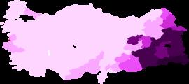 Elecciones generales turcas HDP vota por provincia.png