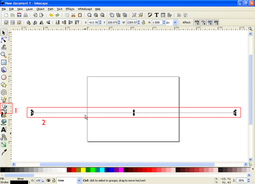 how to draw a straight line in inkscape