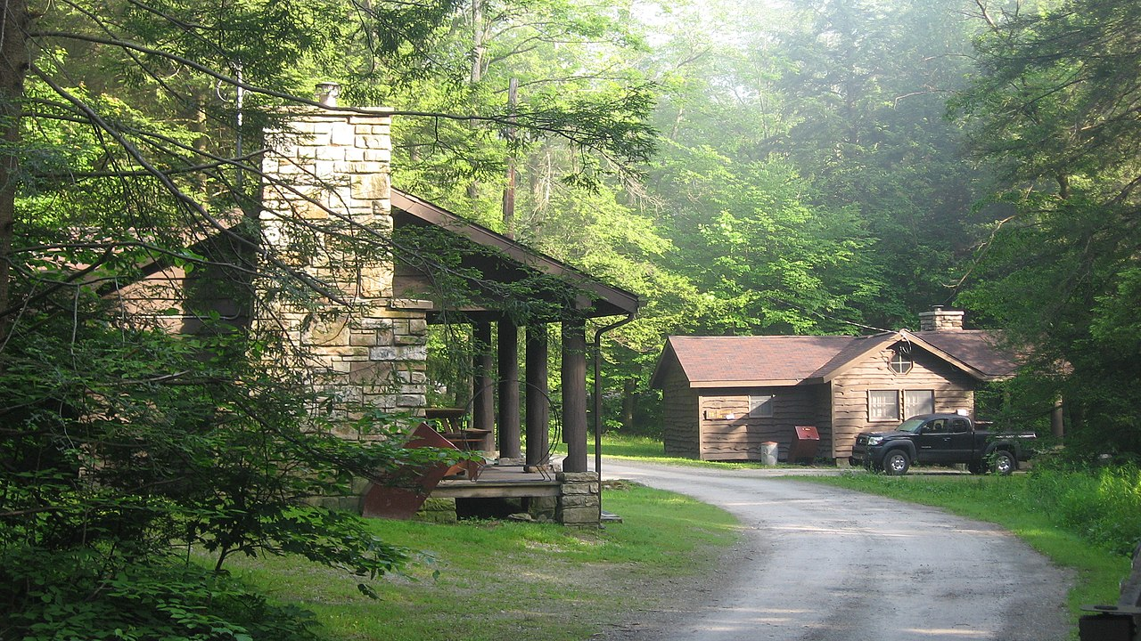 File Two Cabins At Kooser State Park Jpg Wikimedia Commons