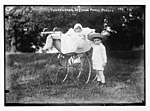 Two children of the Crown Prince of Prussia, one in baby carriage, photo- G. Berger, Potsdam - G. Berger LCCN2014680973.jpg