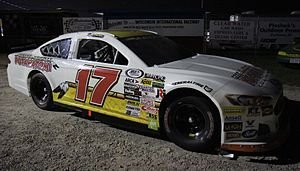 ARCA Racing Series - A composite-body Ford Fusion driven by Ty Majeski in 2016.