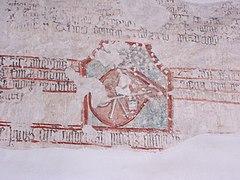 Tyniec - Klasztor - Fresk z herbem.JPG