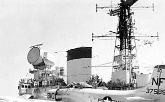 Luneburg lens - Image: Type 984 radar, HMS Victorious 1961