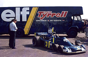 Tyrrell P34 - Ken Tyrrell inspecting the P34