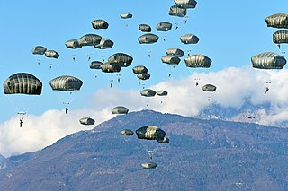Paratrooper Military parachutists functioning as part of an airborne force