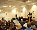 U.S. Coast Guard Chief Warrant Officer Mario Vittone speaks during his retirement ceremony in Portsmouth, Va., Jan. 11, 2013 130111-G-VS714-329.jpg