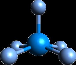 Uranium pentafluoride - Structure of molecular UF5.