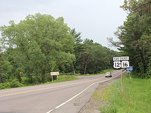 U.S. Route 12 in Wisconsin - US 12 near Rocky Arbor State Park