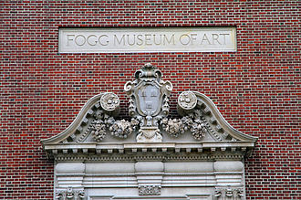 Harvard Art Museums - The original entryway pediment of the Fogg Museum of Art now overlooks a main entrance to the Harvard Art Museums