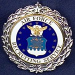 USAF Recruiting Service Badge with Silver Wreath-1st Award.jpg
