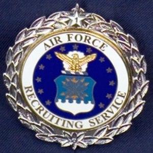 Uniform Service Recruiter Badges (United States) - Senior Recruiter Badge, with 1 Silver Recruiter Badge Award
